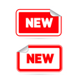 Red Stickers - Labels with New Title vector image vector image