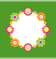round frame made of abstract flower blossom vector image vector image