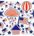 Seamless pattern of Independence Day USA vector image