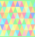 seamless pattern of motley triangles vector image