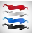 set full colors ribbons vector image