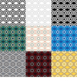 Set of 9 ethnic boho seamless pattern vector image