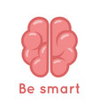 smart brain logo symbol education scientific idea vector image