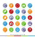 Social Media Flat Icons Set 01 vector image vector image
