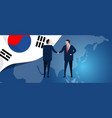 south korea international partnership diplomacy vector image vector image