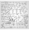 the beautiful scientific background with black vector image vector image