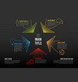 thin line infographics template with colorful vector image