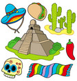 various mexican images vector image