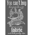 Vintage fashion and sewing poster vector image vector image
