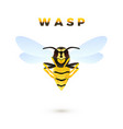 wasp cartoon isolated on white background vector image vector image