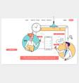 weekly planner schedule memo timeline concept vector image