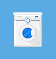 washing machine in a flat style vector image