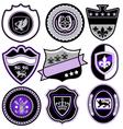 classic sport emblem badge set vector image