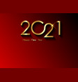 2021 happy new year with gold texture luxury card vector image vector image