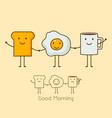 a coffee eggs and toast vector image