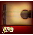 Abstract grunge music background with acoustic vector image vector image
