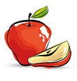 apple fresh and healthy fruit vector image vector image