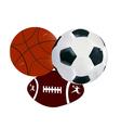 balls soccer volley-ball regbi vector image vector image