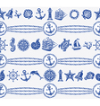 Banners with Nautical and sea symbols vector image vector image