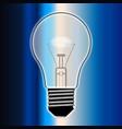 blue light bulb vector image