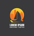 boat logo template concept vector image