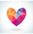 Bright colorful heart shape in modern polygonal vector image