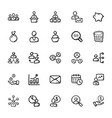 business doodle icons 3 vector image