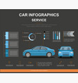 car auto service infographics design vector image vector image