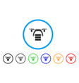 cargo drone rounded icon vector image vector image