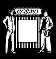 Casino mafia vector image
