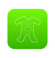 childrens romper suit icon green vector image vector image