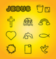 christian faith religion icons vector image