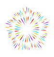 colorful fireworks on white isolated background vector image vector image