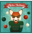 Cute Fox girl in sweater vector image