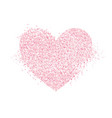 cute heart made of pink confetti vector image