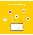 design mobile marketing style collection vector image