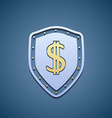 Dollar sign on a shield vector image vector image