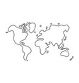 doodle style world map vector image vector image