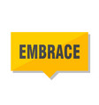 embrace price tag vector image vector image