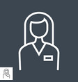 employee line icon vector image