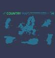 european union portugal sweden netherlands vector image