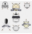 Fencing badges logos and labels for any use vector image vector image