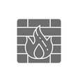 firewall grey icon isolated on white background vector image vector image