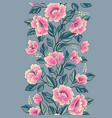 floral background flower rose bouquet seamless vector image vector image