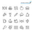 food line icons editable stroke vector image