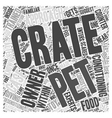 Giving Crate Training to Pets Word Cloud Concept vector image vector image