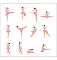 Group of modern ballet dancers vector image