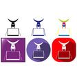 Gymnastics icon in three design vector image vector image