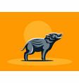 hatchling of wild boar vector image vector image