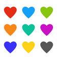 heart love multicolor wedding symbols hearts vector image vector image